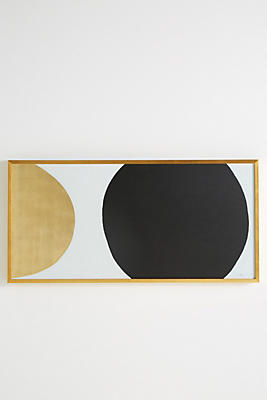 Slide View: 1: Gold Black Orb Wall Art
