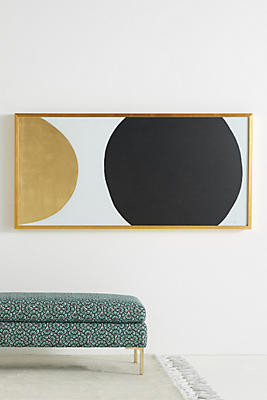 Slide View: 1: Gold Black Orb Wall Art