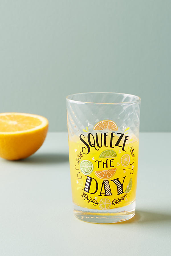 Quenching Juice Glass - Orange Motif, Size Juice