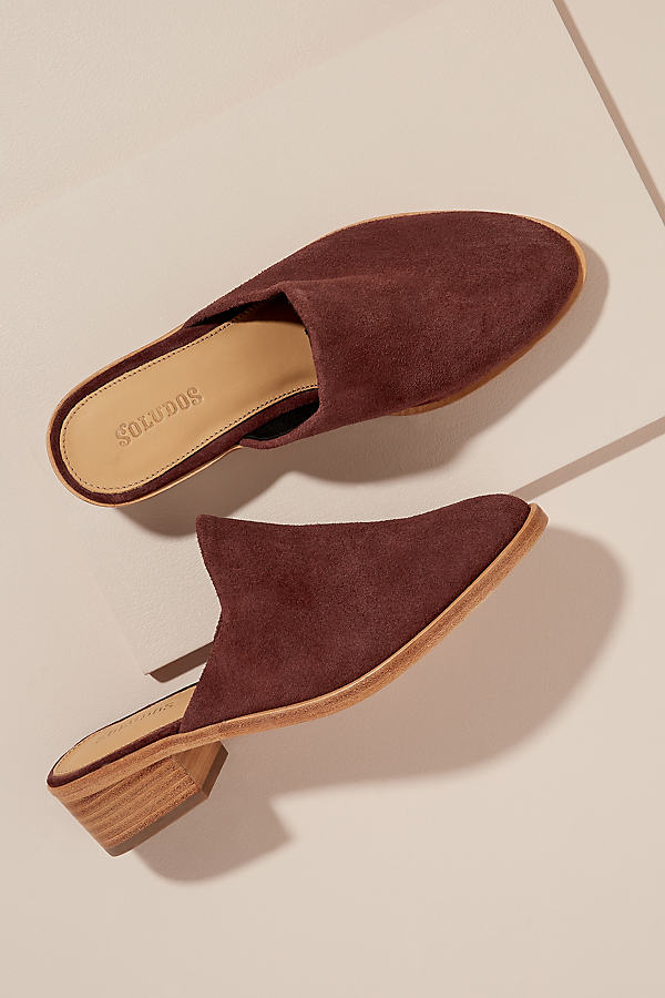 Soludos Jill Suede Loafers - Brown, Size 38