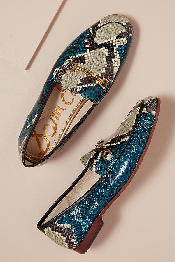 Sam Edelman Snake Print Loafer - Blue, Size 36