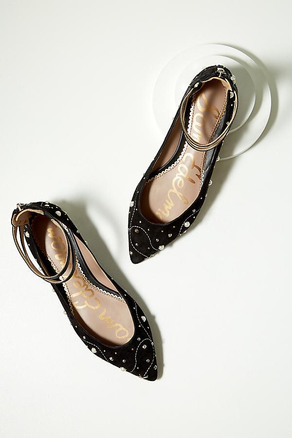 Melodie Embellished Flats - Black Motif, Size 41