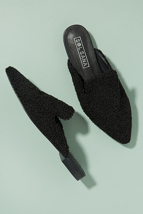 Sol Sana Teddy Loafer - Black, Size 39