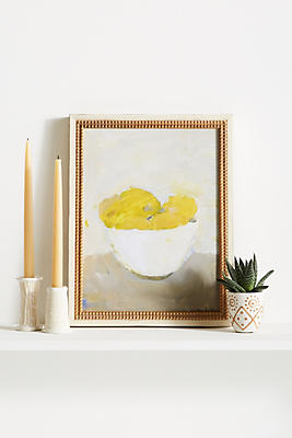 Slide View: 1: Bowl of Lemons Wall Art