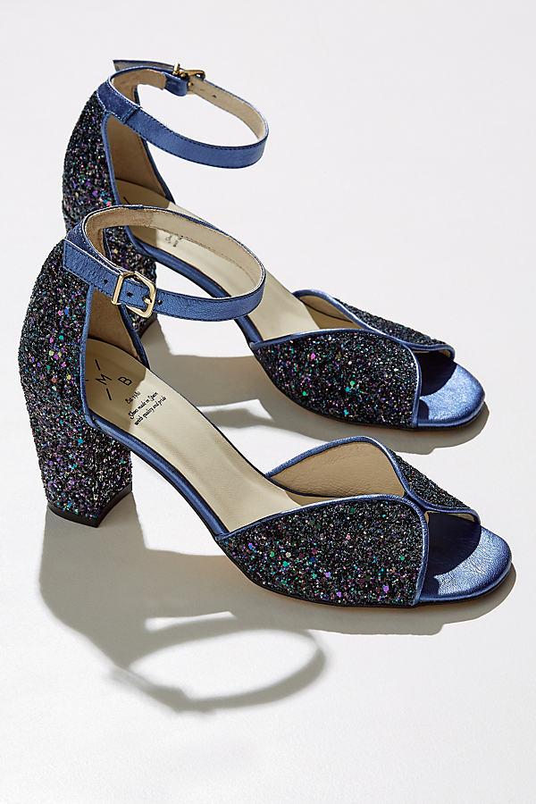 Parisia Glitter Heels - Navy, Size 38
