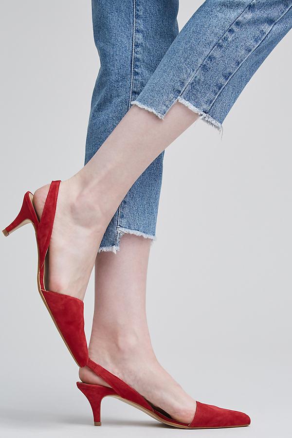 Cheska Kitten Heels - Red, Size 40