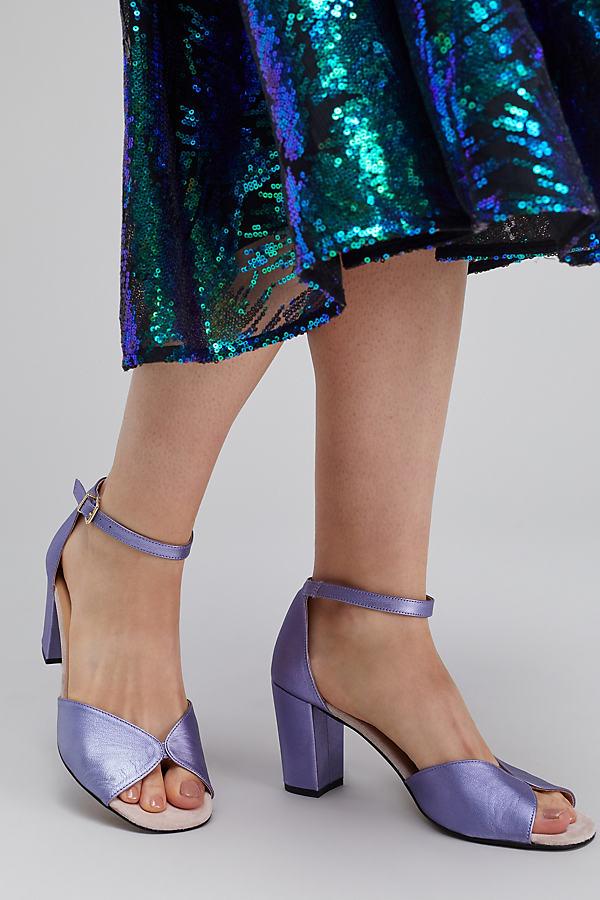 Yolanda Metallic Heels, Lilac - Lilac, Size 38