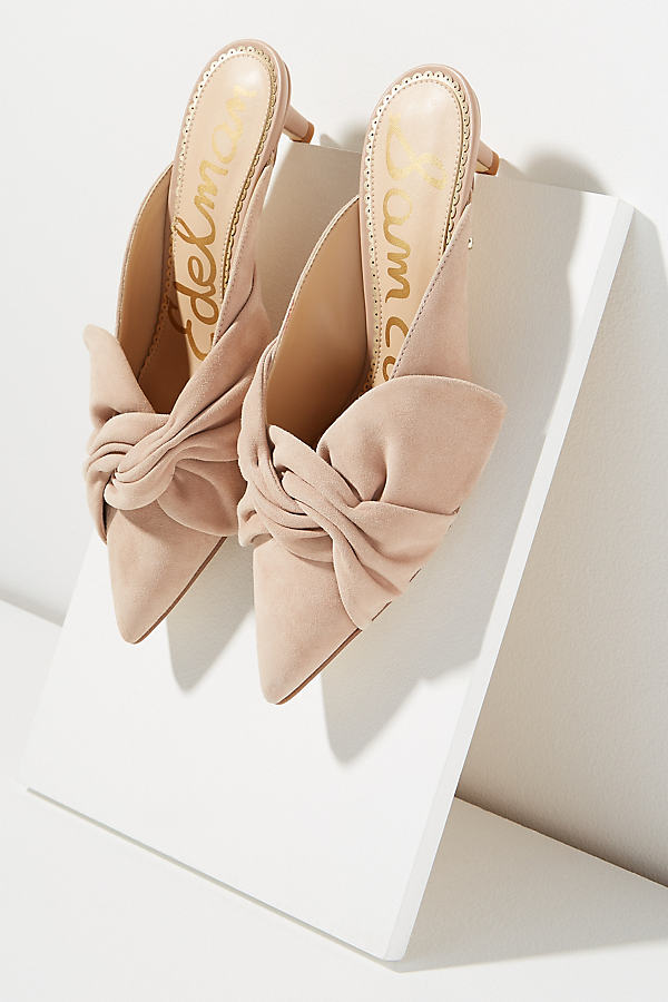 Sam Edelman Stephanie Bow-Detail Kitten Heels - White, Size 40