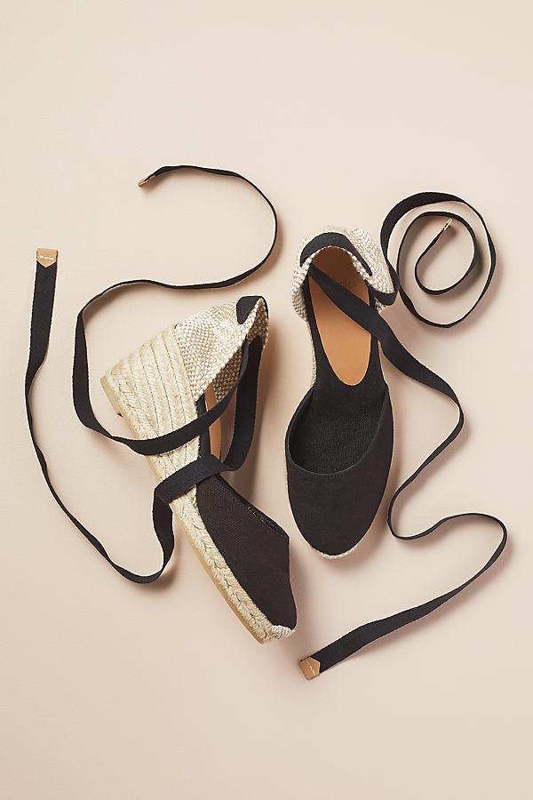 Castenar Espadrille-Platform Sandals - Black, Size 40