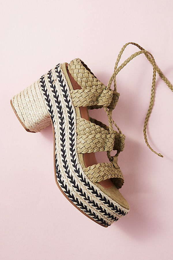 Dina Braided Tie-up Heels