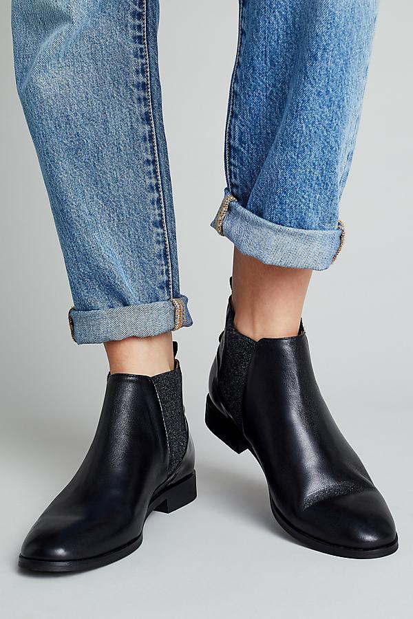 Vivienne Patent Leather Chelsea Boots, Black - Black, Size 38