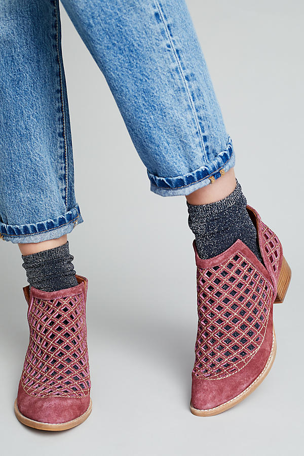 Slide View: 1: Jeffrey Campbell Suede Ankle Boots