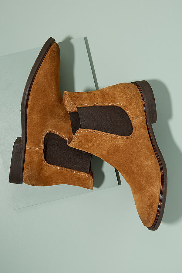 Selected Femme Suede Chelsea Boots - Brown, Size 36