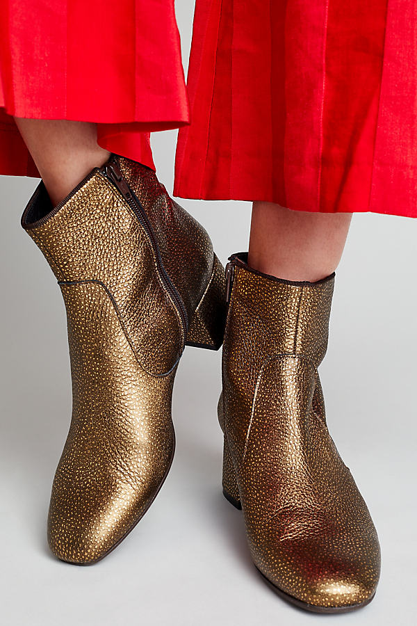 Marley Metallic Ankle Boots - Gold, Size 37