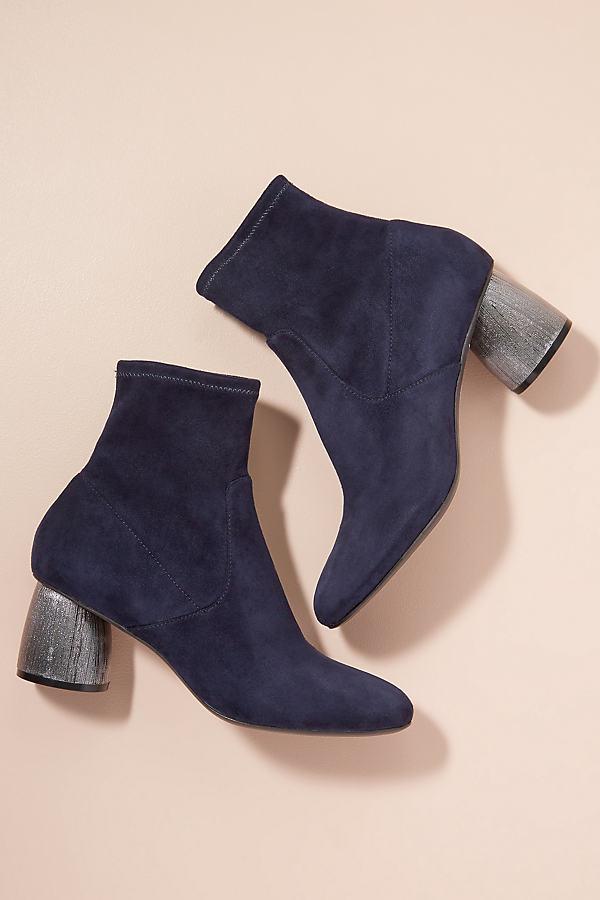 Bruno Premi Metallic-Heel Ankle Boots - Black, Size 37