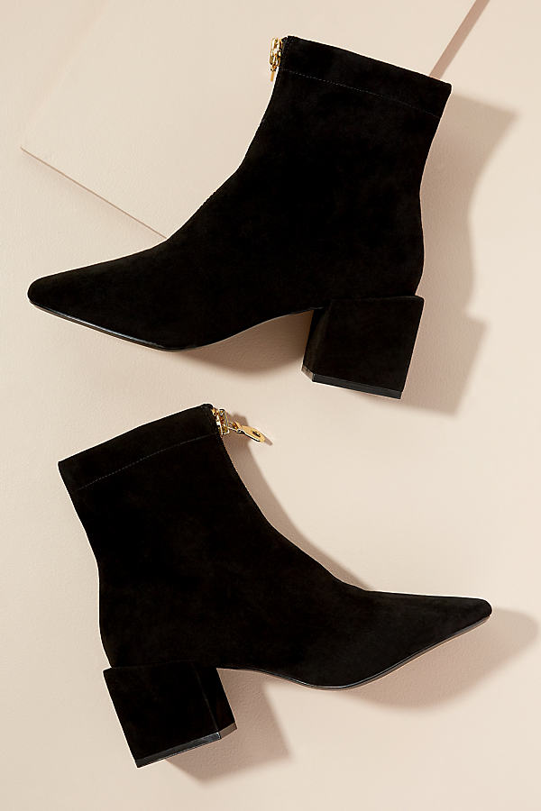 Miss L Fire Suede Ankle Boots - Black, Size 41