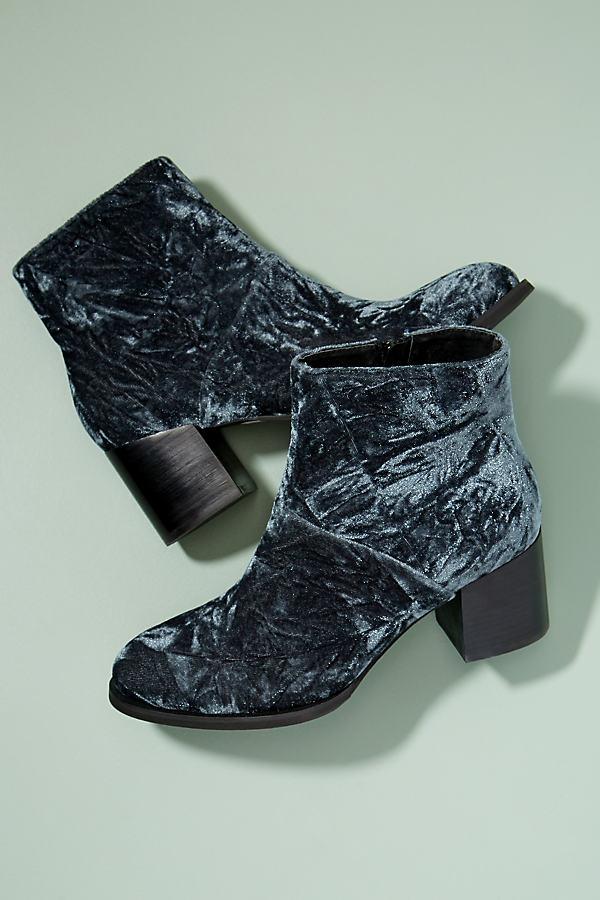 Sefa Velvet Ankle Boots - Grey, Size 38