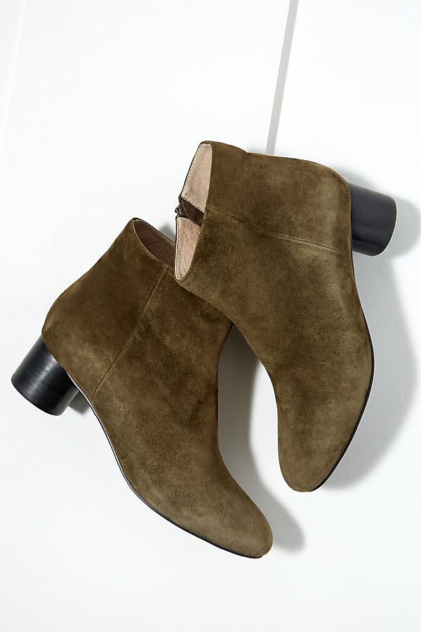 Mary Suede Ankle Boots - Brown, Size 39