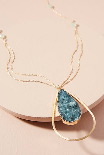Druzy Teardrop Necklace