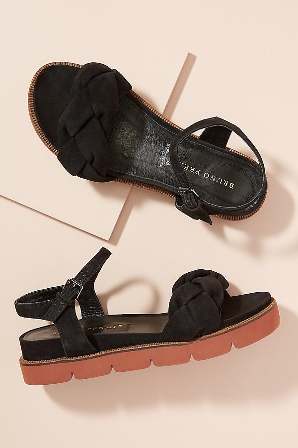 Bruno Premi Abena Twisted-Front Sandals - Black, Size 40