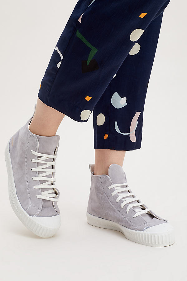 Ase Suede Hi-Top Trainers - Grey, Size 37