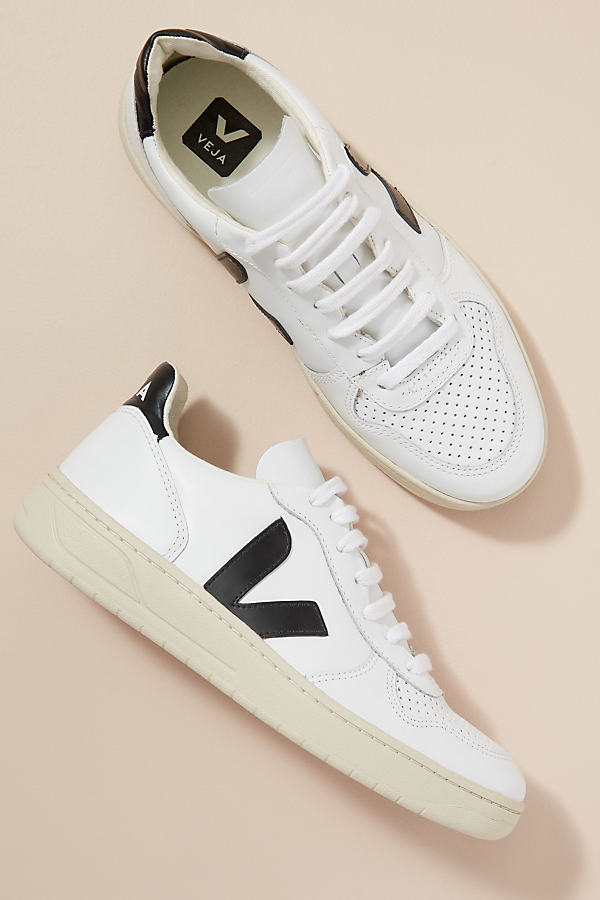 Veja Leather Trainers - White, Size 39