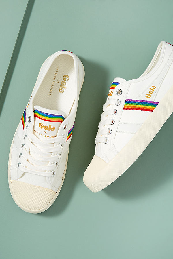 Anthropologie x Gola Coaster Rainbow-Striped Trainers