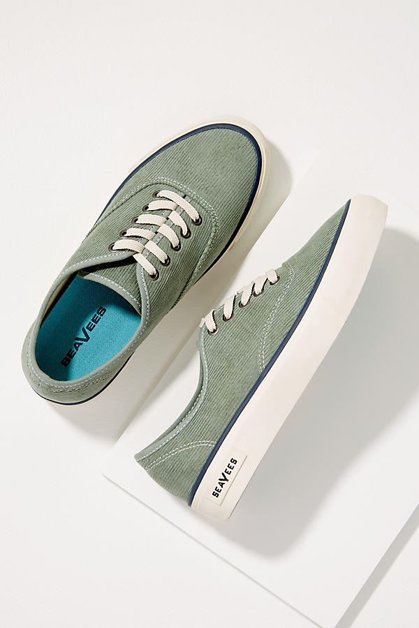 SeaVees Corduroy Trainers - Blue, Size 36