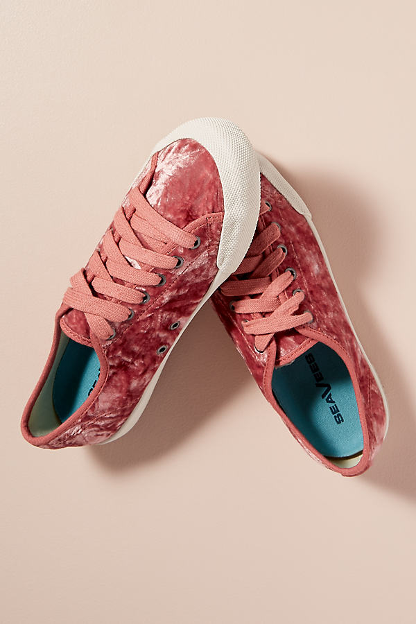 SeaVees Velvet Trainers - Pink, Size 38