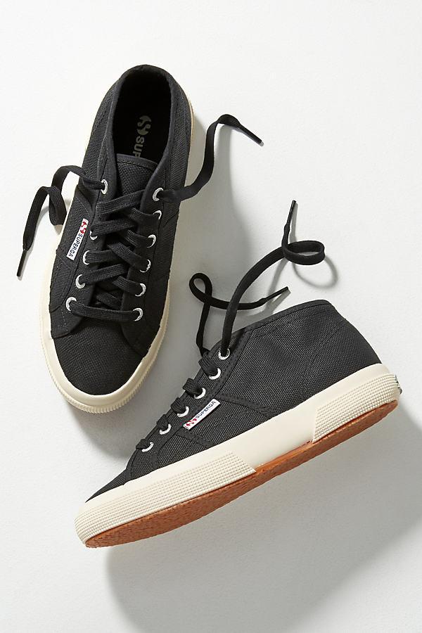Superga Cotu High Top Trainers - Black, Size 37