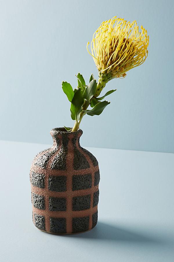 Gridline Vase - Dark Grey, Size M