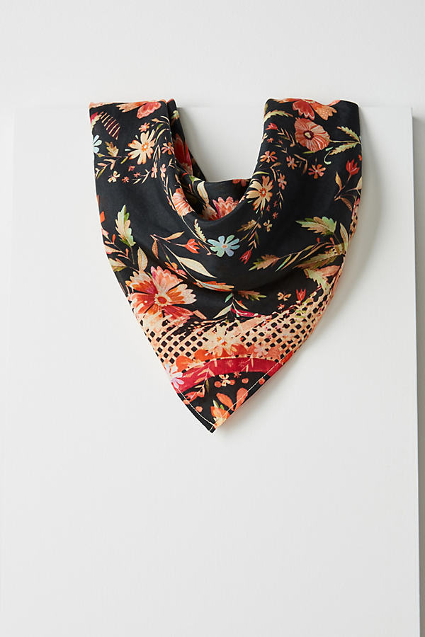 Larkspur Silk Neckerchief - Black