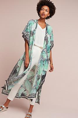 Slide View: 1: Tropicalia Silk Kimono