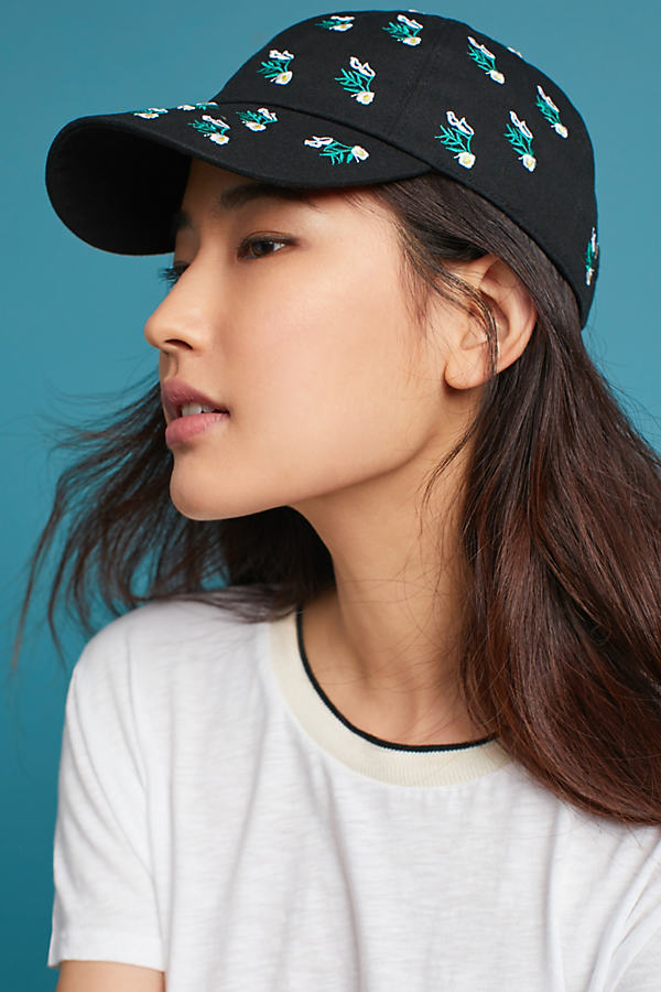 Budding Baseball Cap - Black Motif