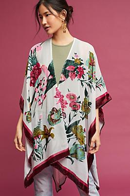 Slide View: 1: Velvet Ruana Kimono