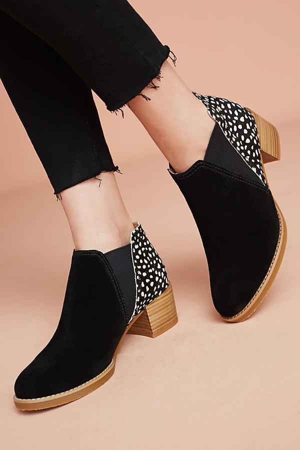 Dodi Calf-Hair Ankle Boots - Black Motif, Size 38