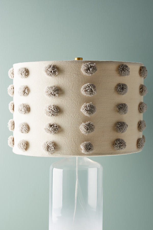 Tufted Amal Lamp Shade - Grey Motif, Size S