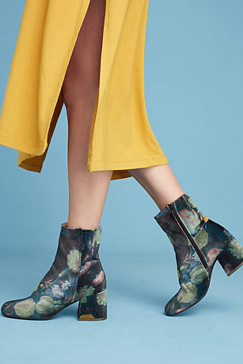 Miss L Fire Jeanie Floral Velvet Boots