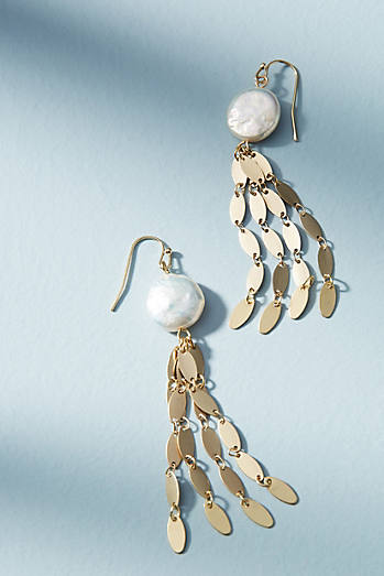 Freshwater Fringe Drop Earrings