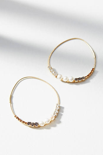 Pearlescent Hoop Earrings
