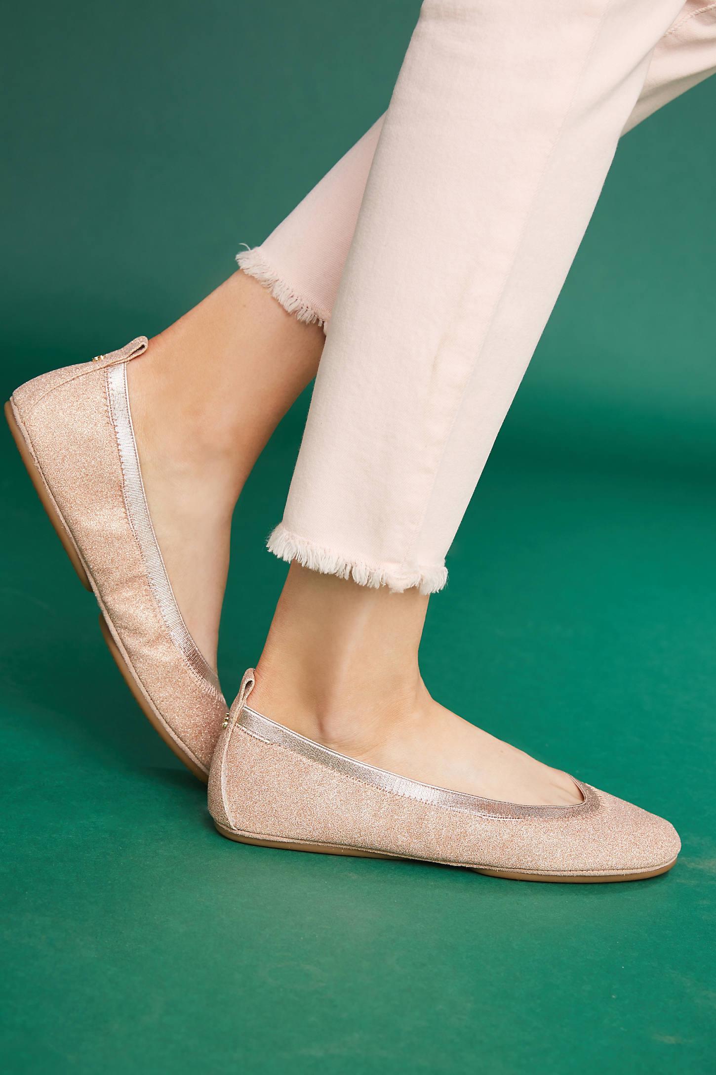 Yosi Samra Glitter Ballet Flats