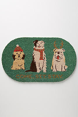 Slide View: 1: Holiday Pups Doormat