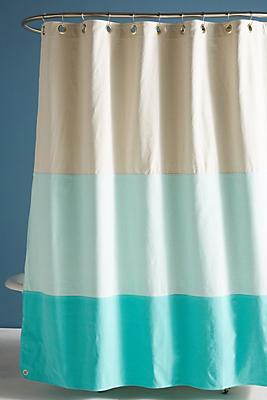 Slide View: 1: Quiet Town Lido Shower Curtain