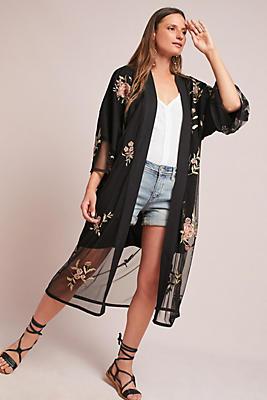 Slide View: 1: Fiore Embellished Kimono