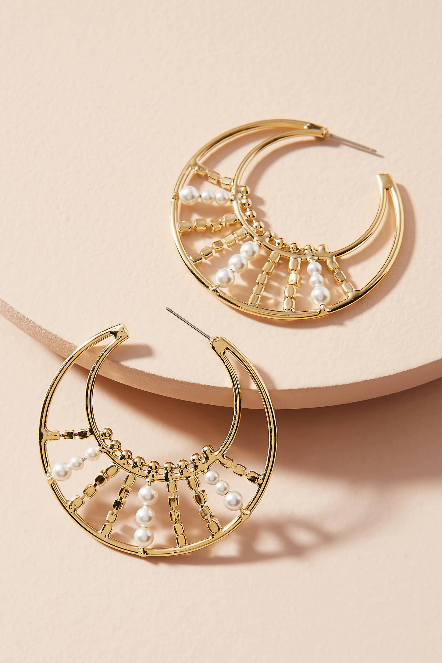 Roscoe Pearl Hoop Earrings