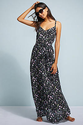 Slide View: 1: Triya Floral Maxi Cover-Up