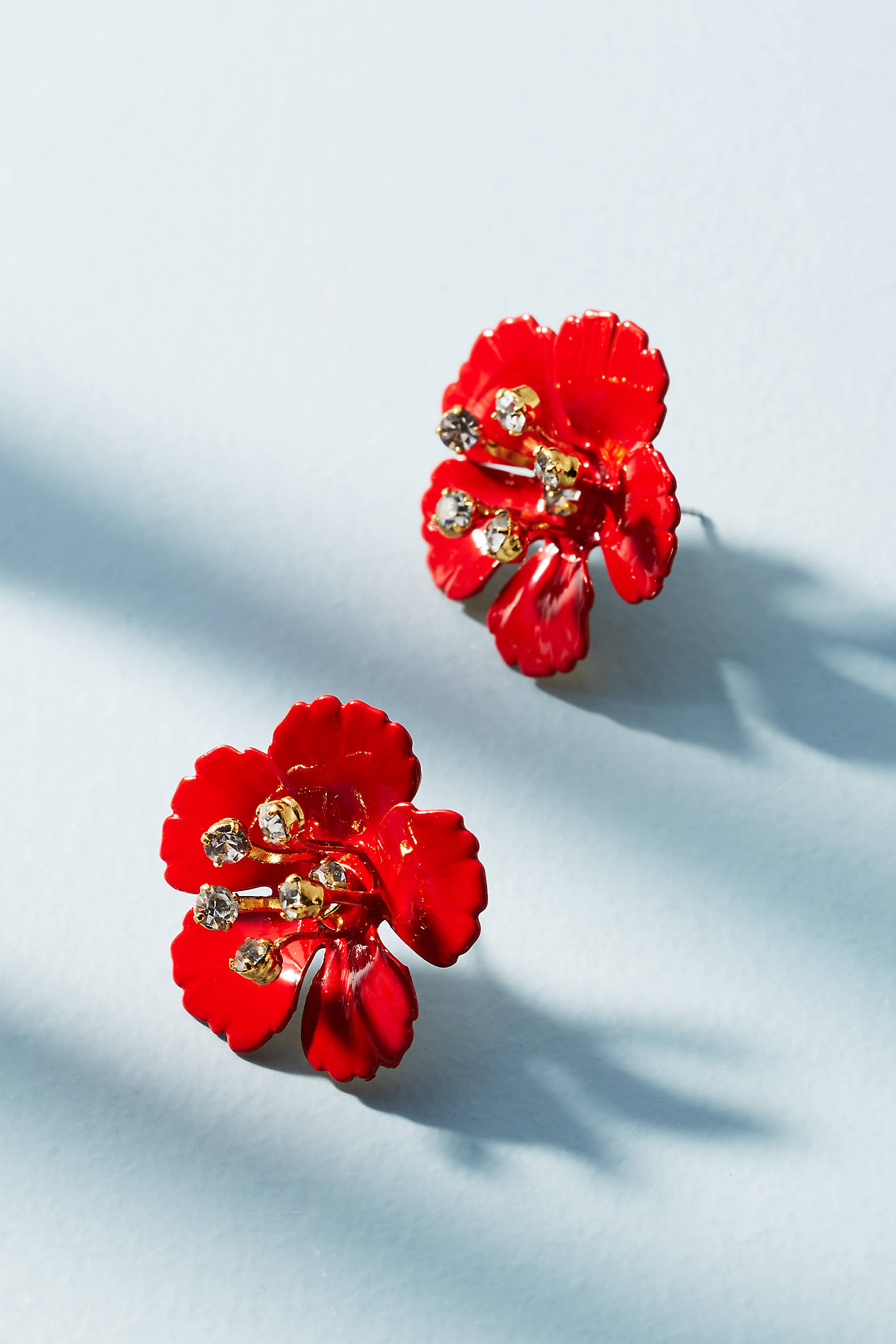 Painted Blossom Post Earrings