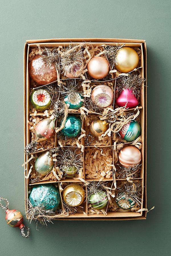 Vintage-Inspired Ornament Set   Anthropologie