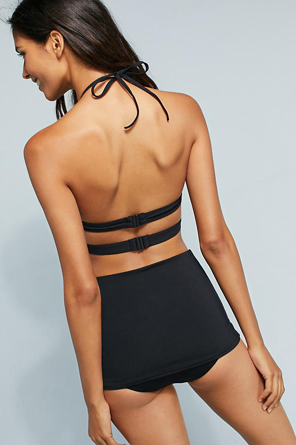 Slide View: 3: Seafolly High-Waisted Skirted Bikini Bottoms