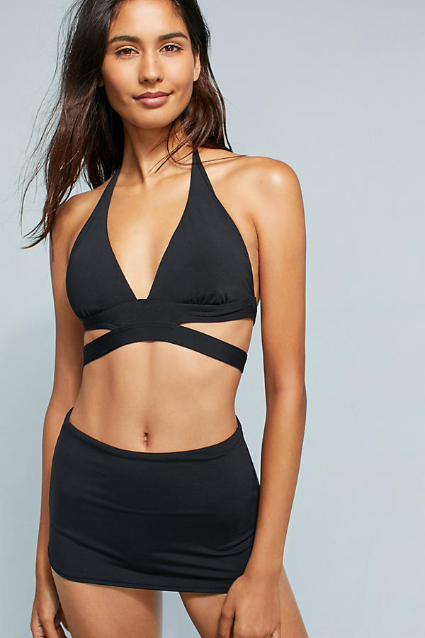 Slide View: 1: Seafolly High-Waisted Skirted Bikini Bottoms